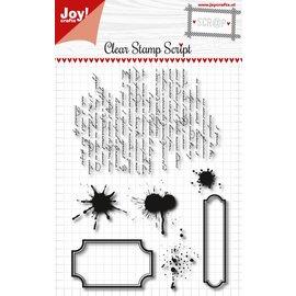 Joy!Crafts Scrap - Clearstempel- Script