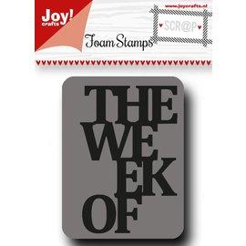 Joy!Crafts Scrap Foamstenpel - The week of