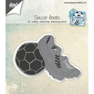 Joy!Crafts 3D- Snij-embos-debosstencil - Voetbal-schoenen