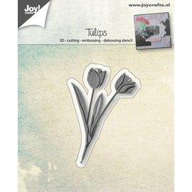 Joy!Crafts Cut-embos-debos-3D stencil - Hollandse Tulpen