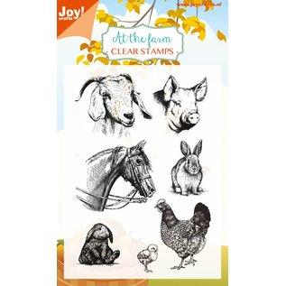 Joy!Crafts Clear stempel - At the Farm - Paard, konijn, geit
