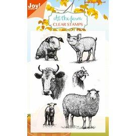 Joy!Crafts Clear stempel - At the farm - Varkens,schapen,koe