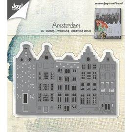 Joy!Crafts Cut-embos-debos-3D stencil - Hollandse Huizenrij