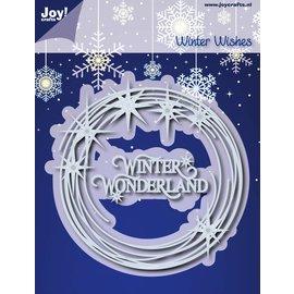 Joy!Crafts Snij-embosstencil - Flonkerende Sterrencirkel