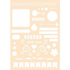 Joy!Crafts Polybesa Journaling stencil nr. 3