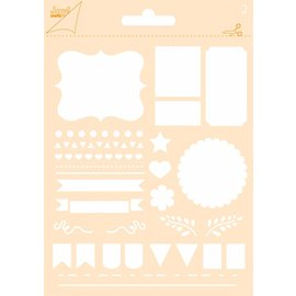 Joy!Crafts Polybesa stencil - Journaling Vlaggen