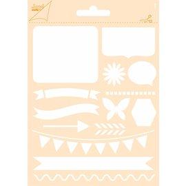Joy!Crafts Polybesa stencil - Journaling Vlinder