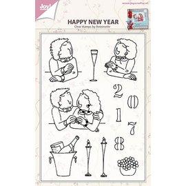 Joy!Crafts Stempel - Gelukkig nieuwjaar Antoinette Verhallen