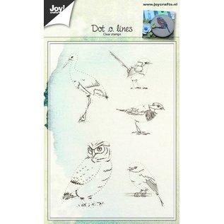 Joy!Crafts Clear stempel - Dot-o-lines Vogels