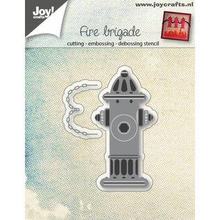 Joy!Crafts Snij-embos-debosstencil - Brandweer waterpomp