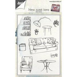 Joy!Crafts Stempel tafereel woonkamer (home sweet home)