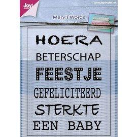 Joy!Crafts Stempel - Mery korte tekst NL