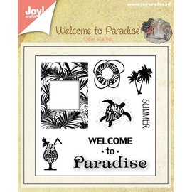 Joy!Crafts Stempel - Welcome to paradise - groot
