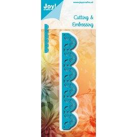 Joy!Crafts Snij-embosstencil - Rand met waaiers