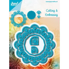 Joy!Crafts Snij-embosstencil - Bloemcirkel/Hexagon12