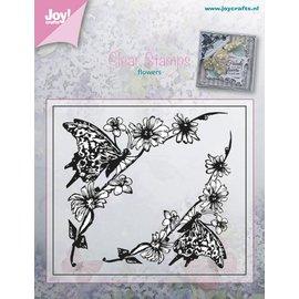 Joy!Crafts Stempel - bloemen met vlinders hoek