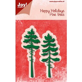 Joy!Crafts Snijstencils - Happy Holidays - Dennebomen