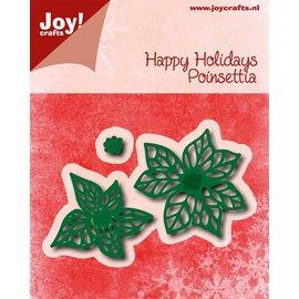 Joy!Crafts Snij-embosstencil - Happy Holidays - Poinsettia (k