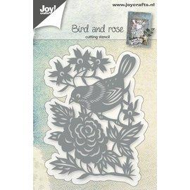 Joy!Crafts Snijstencil - Vogel en roos