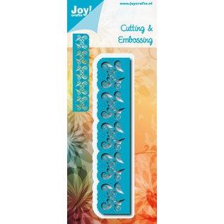 Joy!Crafts Snij-embosstencil -Rand met snijwerk en bloemen