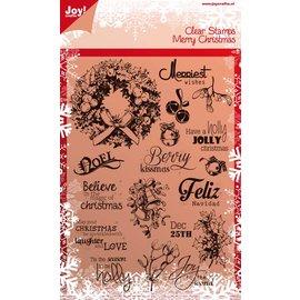 Joy!Crafts Stempel - tekst Kerst ENG