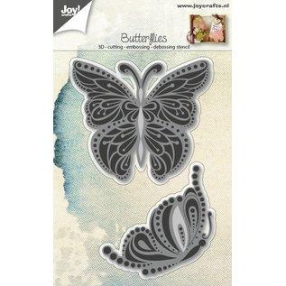 Joy!Crafts Snij-embos-debosstencil - Vlinders sierlijk 2 st.