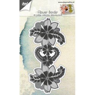Joy!Crafts Snij-embosstencil 3D - Eindeloze bloemenrand