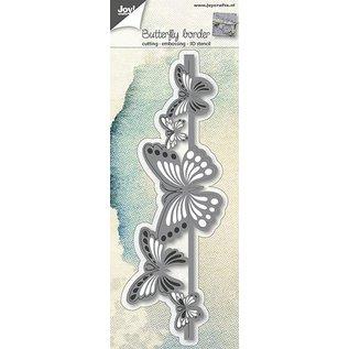 Joy!Crafts Snij-embosstencil 3D - Rand Vlinders