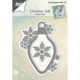 Joy!Crafts Snijstencil kerstbal met sneeuwvlok