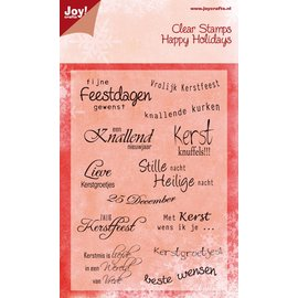 Joy!Crafts Stempel - tekst Kerst NL