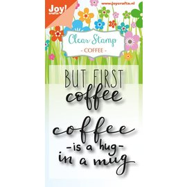 Joy!Crafts Clearstempel - Coffee txt - Hug in a mug