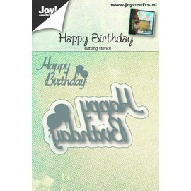 Joy!Crafts Snijstencil - Happy Birthday tekst