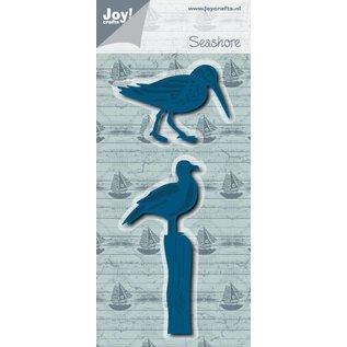 Joy!Crafts Snij-embosstencil - Zeemeeuw + Zandloper