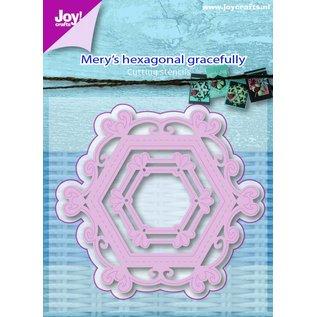 Joy!Crafts Snijstencil - Mery's zeshoek sierlijk