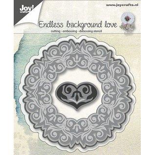 Joy!Crafts Snij-embos-debosstencil - Achtergrond met hart