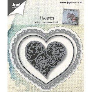 Joy!Crafts Snij-embosstencil - Hart (3st)