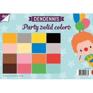 Joy!Crafts Papierset - Dendennis Party solid colors