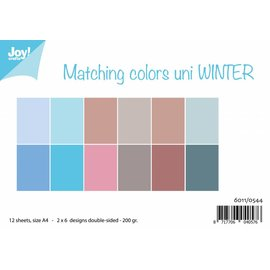 Joy!Crafts Papierset - Matching Colors Uni - Winter