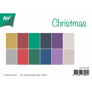 Joy!Crafts Papierset Matching Colors Uni - Christmas