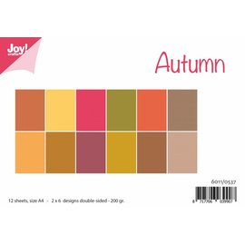 Joy!Crafts Papierset Matching Colors uni - Herfst