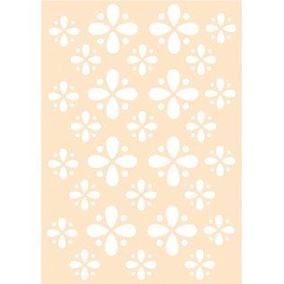 Joy!Crafts Polybesa embossingstencil - Bloempatroon
