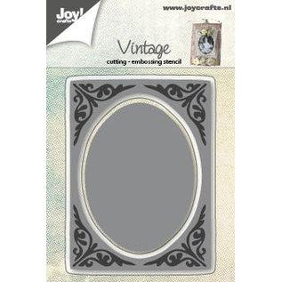 Joy!Crafts Snij-embosstencil - Vintage met ovaal