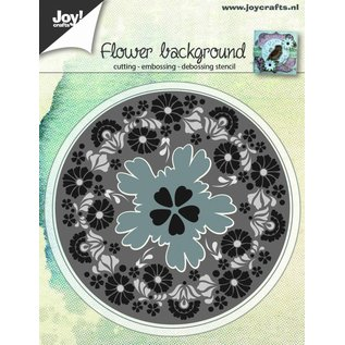 Joy!Crafts Snij-embos-debosstencil - Bloemenachtergrond