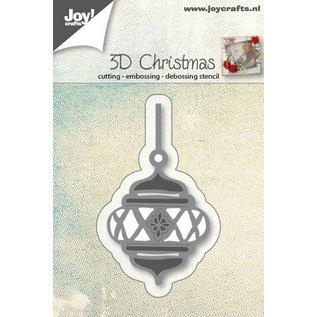 Joy!Crafts Snij-embos-debos stencil - 3D kerstbal