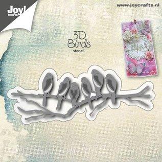 Joy!Crafts 3D Stencil - Vogels op tak