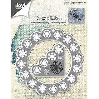 Joy!Crafts Snij- embos-debos stencil (2st) - sneeuwvlokken