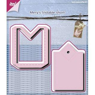 Joy!Crafts Snij-embos stencil (2st) - Mery verschuifbaar kort