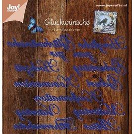 Joy!Crafts Snijstencils (13st) - tekst DUI - Herzliche Glückw