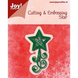 Joy!Crafts Snij-embosstencil - Kerstster met swirls