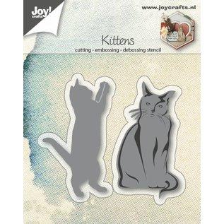 Joy!Crafts Snij-embosstencil - Katjes 2 st